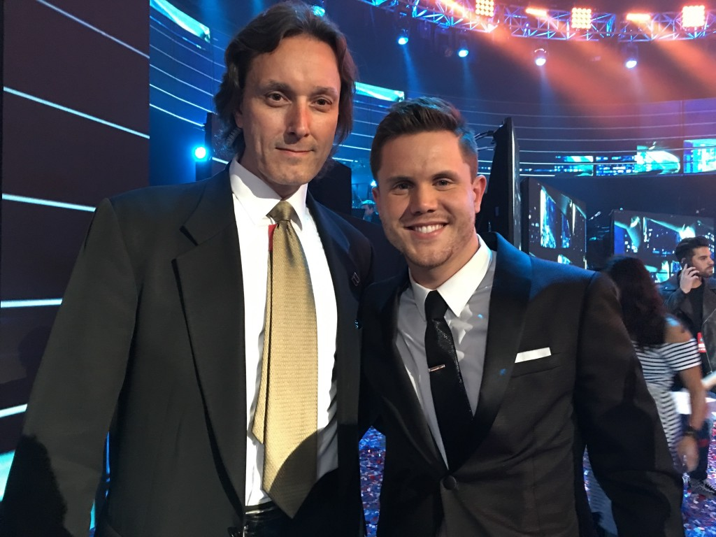 Mark Hyde w/ Trent Harmon at American Idol finale 2016